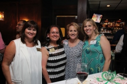 Board Treasurer, Holly Breach, with Irene, Stephanie Elliott from Celebrate Magazine, and Karen Thompson with Otterbox.